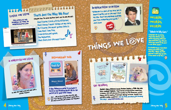 """Things We Love"" magazine article"