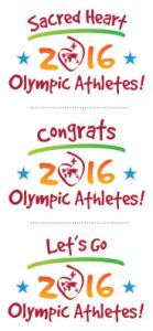 set of 3 logo marks / Sacred Heart 2016 Olympic athletes